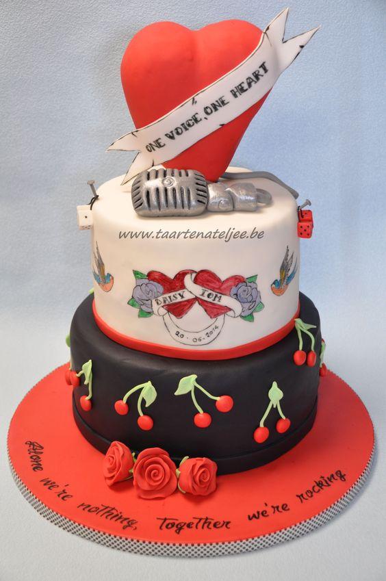 rockabilly wedding cake, Taartenateljee:
