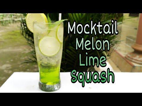 Cara Membuat Mocktail Melon Lime Squash Youtube Ide Bisnis Minuman Ide