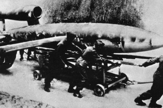 German World War 2 V1 rocket also known as a Doodlebug by the ...