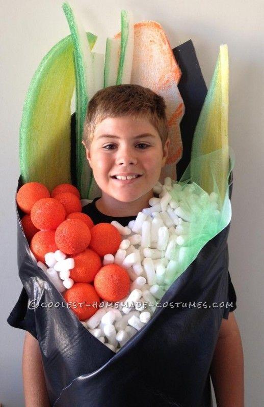 Sushi hand roll costume DIY. I love the avocado.