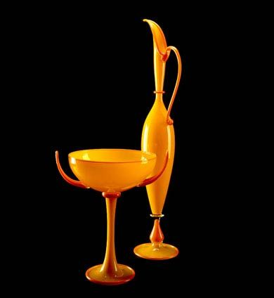 Dante Marioni - yellow & orange pair from 1997