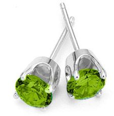 14K White Peridot Earrings (1ctw) - On sale right now half price for only $65.00 - AWESOME!!