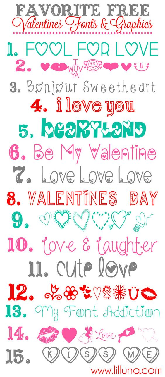 saint valentine fonts