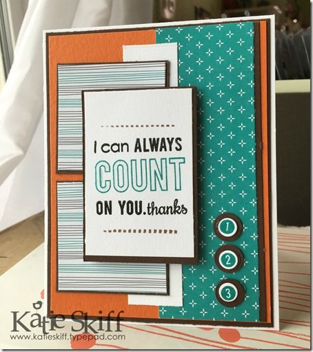 I can Count On You | Reverse Confetti Stamps and Global Design Project Color Challenge