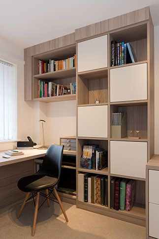 A Real Room With Hammonds Fitted Home Office Furniture Installed In A Happy Customer S Home Home Office Storage Home Office Furniture Office Storage Furniture