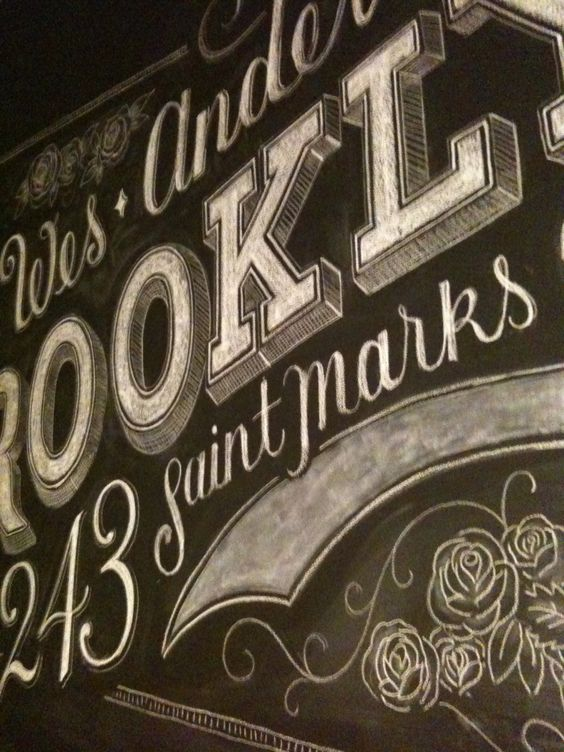 Custom chalk lettering by Dana Tanamichi