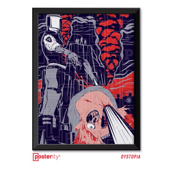 """""""Cree la mitad de lo que ves y nada de lo que escuchas"""" vocifera Dave en la canción titulada Dystopia del último disco de estudio de Megadeth. Consigue este póster Ilustrado por CTRL-X y muchos más pronto en nuestra web #dystopia #megadeth #aguantemegadeth #southamericatour"""