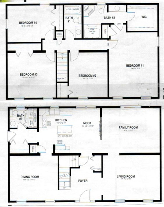 2 story polebarn house plans two story home plans for Two story master down floor plans