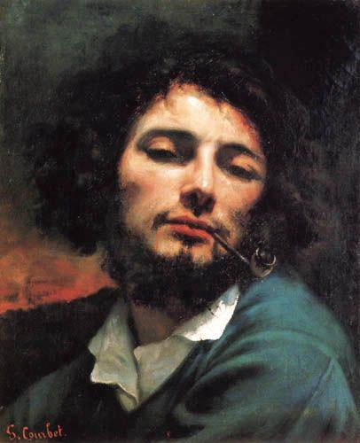 Gustave Courbet - Autoportrait avec pipe
