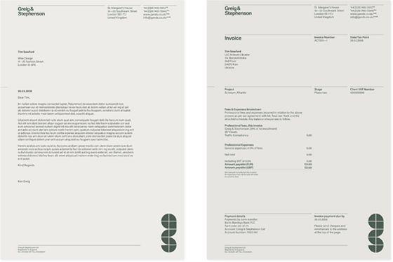 Letterhead and invoice