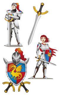 Knights & Dragons Wanddecoraties - Sisters in Wonderland