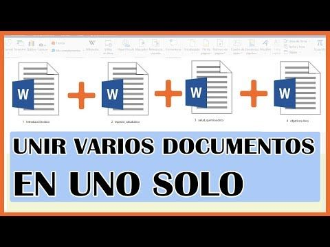 536 Word Como Unir Varios Documentos De Word En Uno Solo 2019 Youtube Libros De Informatica Aprender Informatica Informatica Y Computacion