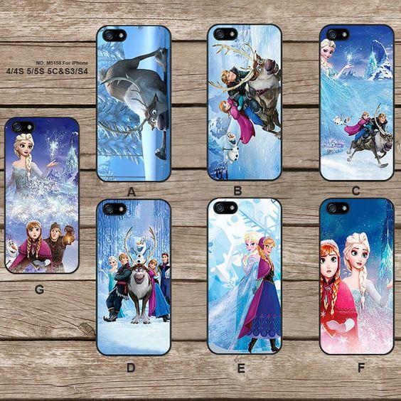 Disney congelati Elsa e Anna iPhone5s caso iPhone 4 caso iPhone 5C iPhone5 caso caso iPhone caso Samsung Galaxy s3 galassia s4 - M5158 on Etsy, 6,76€