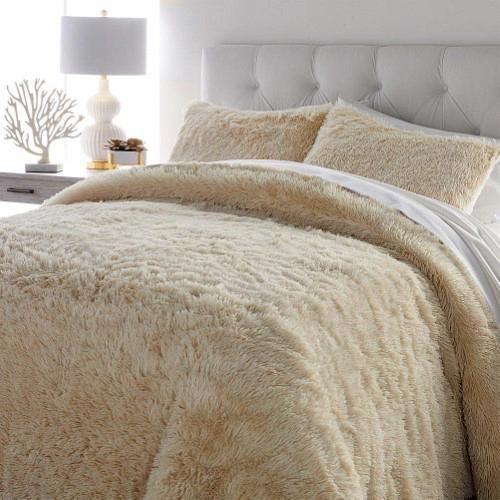 Soft Cozy 3 Piece Faux Fur Comforter Set Coolbeddingsets Comforter Sets Fur Comforter Comforters