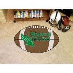 "North Texas Mean Green Football Rug 22""x35"""
