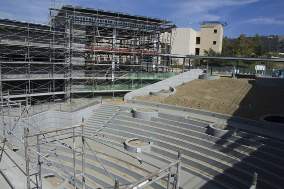 Outdoor amphitheater at the University Student Union  under construction, July 2013