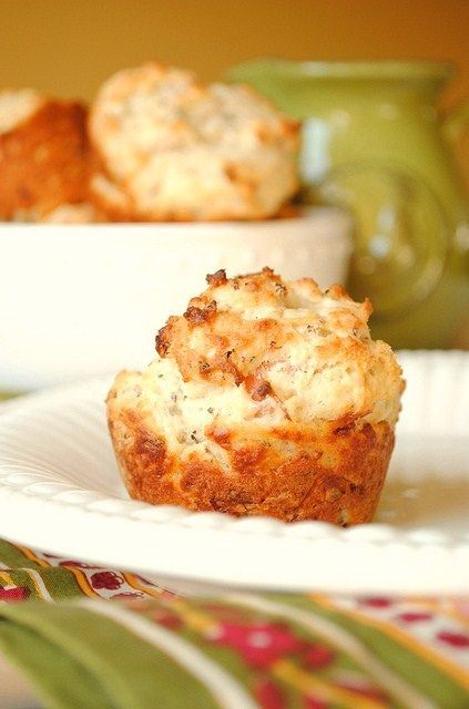 Parmesan Muffins with Prosciutto and Basil by How To: Simplify
