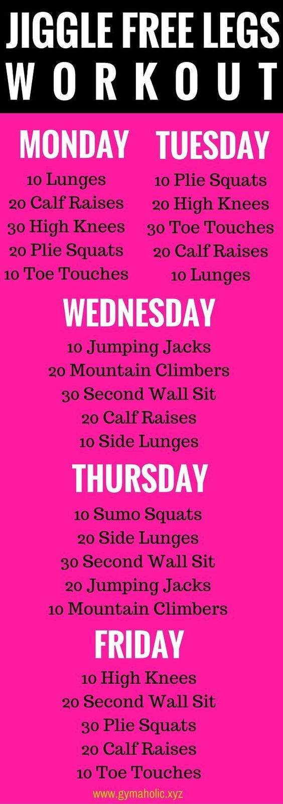 5 moves a day for 5 days - to yummy, jiggle-free, lean legs.