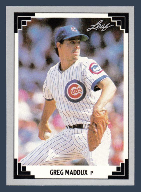 Greg Maddux # 127 - 1991 Leaf Baseball