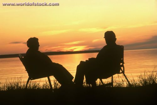 Chairs For The Elderly >> sunsets with the elderly   Photo titled: Senior Citizen Couple Sit In Chairs And Watch A Sunset ...