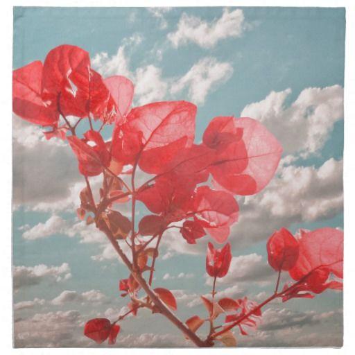 Cute flowers print napkins by #dflcprints