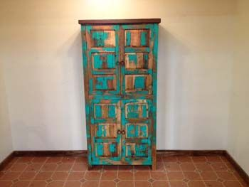 Washed Wood Cabinet from Saddleblanket Home Collection