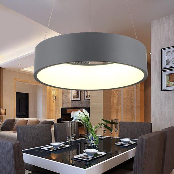 Günstige Moderne Led pendelleuchten Echt Lampe Lamparas f\uuml;r - design küchen günstig