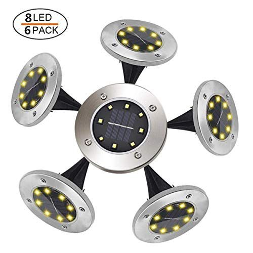 Tomshine lumi/ère ext/érieure 10 LEDs SMD2835 /étanche IP65 LED Lampe solaire au sol 4 Pack R/éverb/ère Lumi/ères Pour Chemin Jardin Terrace Pelouse Ensevelies Lumi/ère Blanc