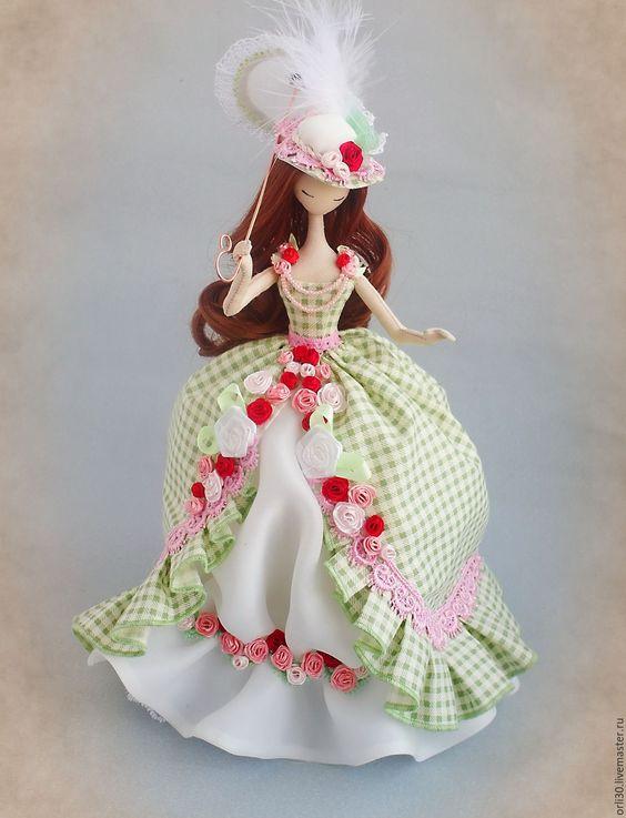Купить Текстильная кукла.Тряпиенс.Софья - ярко-зелёный, тряпиенс, тряпиенса, тряпиенсы, текстильная кукла ♡: