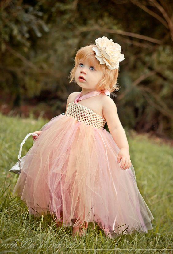 Flower Girl Tutu Dress-Flower Girl Dress-Toddler Tutu Dress-Baby ...