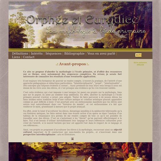 .: Orphée et Eurydice :. La mythologie à l'école primaire   Pearltrees