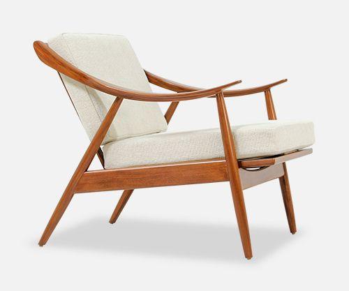 Danish Modern L A Danish Modern Afromosia Teak Lounge Chair