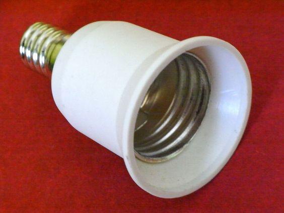 10 x Adapter E14 auf E27  für Leuchtmittel Glühlampen