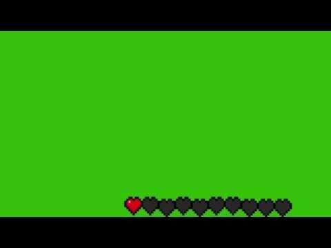 Hd Minecraft Health Bar Green Screen Youtube In 2021 Greenscreen Chroma Key Green Screen Video Backgrounds