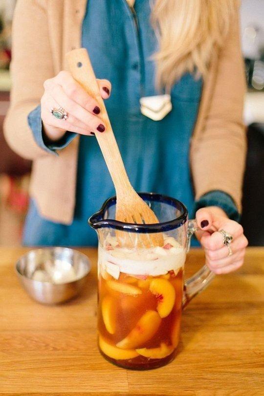 Recipe: Peach Lambic & Rye Sangria