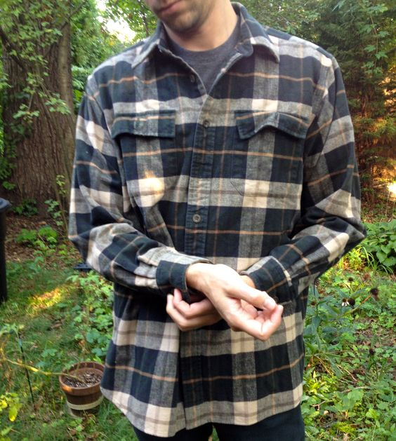 Vintage LL Bean Mens Flannel Plaid Shirt Chamois Cloth comffyyyy