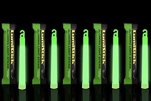 Lumistick 6 Inch Glowstick Rods Individually Packed Emergency Light Stick 12 Hour High Intensity Glow Lights Green 144 Glowsticks Emergency Lighting Glow Sticks Surveillance Cameras