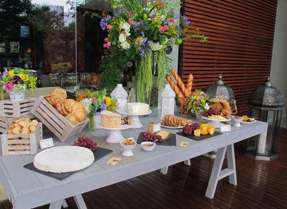 Mesa de quesos mesa pinterest mesas - Mesa de quesos para bodas ...