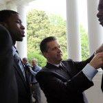 Gotta straighten up that tie, Terrence!
