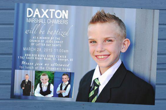 Baptism Invitation LDS baptism invite LDS by FramedPhotography