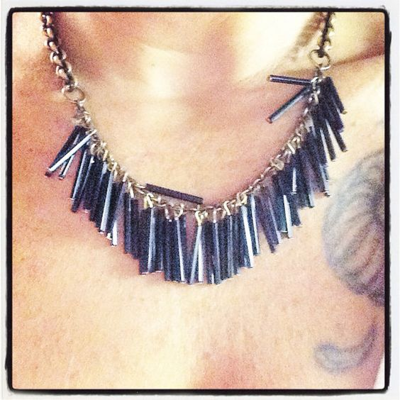 Hey, I found this really awesome Etsy listing at https://www.etsy.com/listing/199977241/black-fringe-necklace-or-wrap-around
