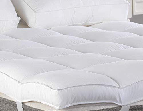 Queen Mattress Topper Plush Pillow Top Mattress Pad Bed Topper Hotel Quality Pillow Top Mattress Pad Thick Mattress Topper Queen Mattress Topper