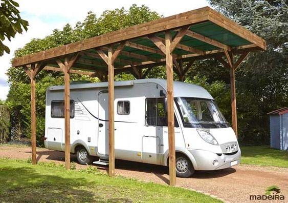 Carport couvert Camping Car en Bois 404x802cm couverture Polycarbonate Decouvrez tous nos carport couvert a petit prix sur lekingstore - LeKingStore