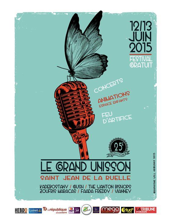 Affiche pour le festival Le Grand Unisson. St Jean de la Ruelle. 2015. artwork will argunas