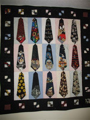 Necktie Quilt Patterns For Beginners : Free Bow Tie quilt patterns are simple for beginners to create a beautiful quilt that the family ...