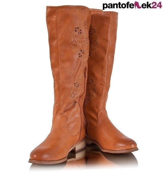 Brązowe kozaki  / Camel shoes / 79 PLN #boots #winter #kozaki #camel #autumn