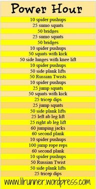 Cross training workout