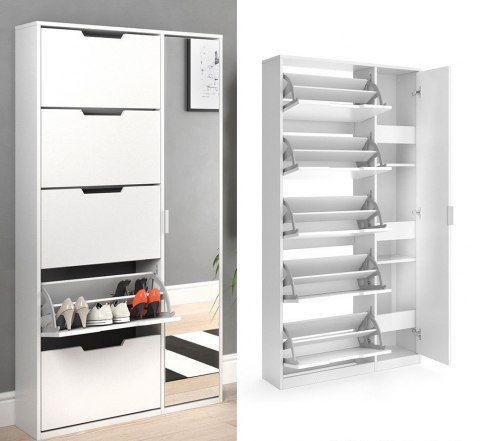 Szafka Na Buty Paul Szafa Z Lustrem Meble Do Przedpokoju Home Decor Locker Storage Furniture