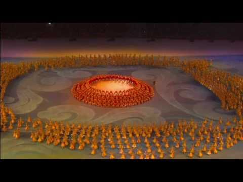 AMAZING IMACTING ELEMENTS. Numbers using fireworks. Closing Ceremony - Beijing 2008 Summer Olympic Games