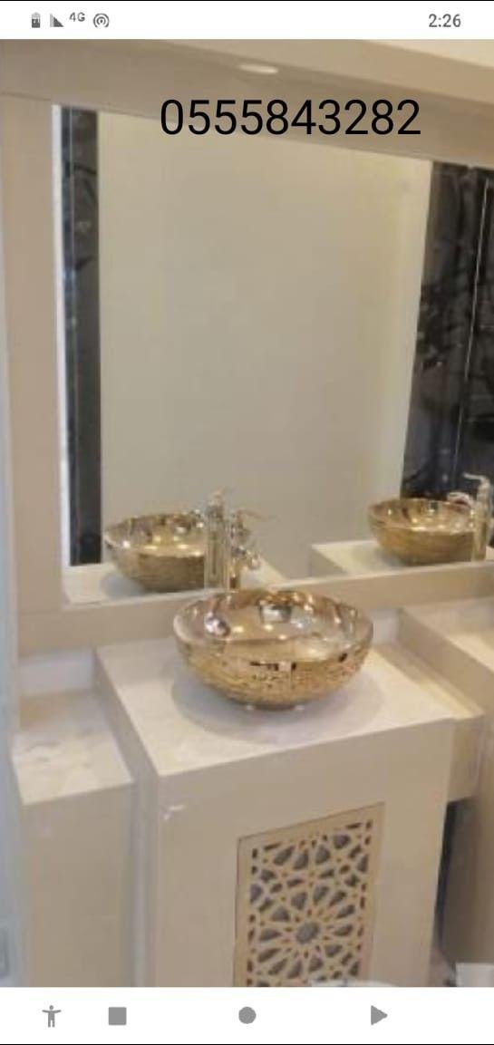 مغاسل رخام حمامات الرياض جديد Framed Bathroom Mirror Bathroom Mirror Mirror